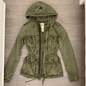 Aritzia TNA Army Green Military Cargo Jacket